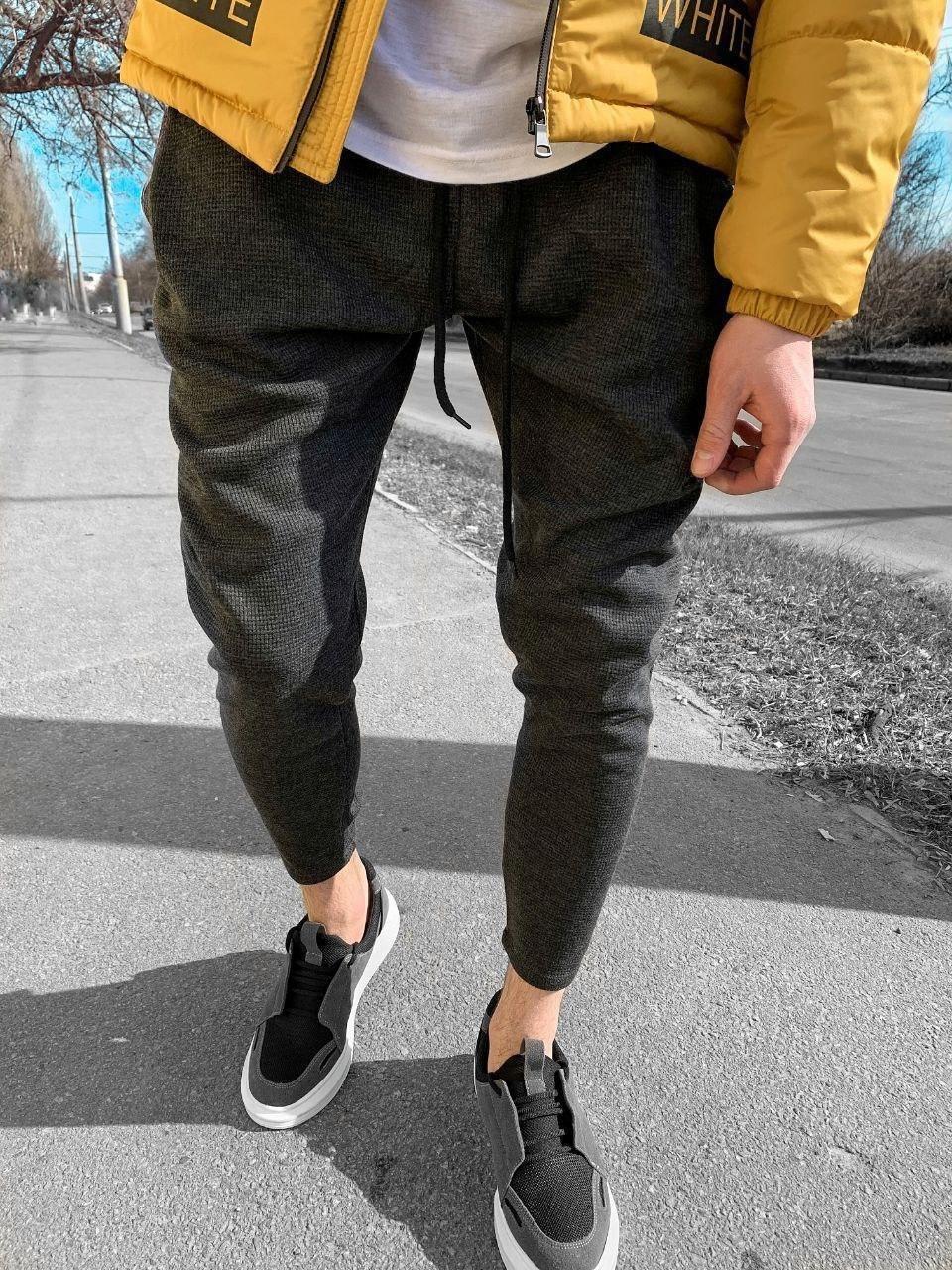 😜Спортивні штани - чоловічі штани-спортивки сірого кольору