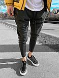 😜Спортивні штани - чоловічі штани-спортивки сірого кольору, фото 2