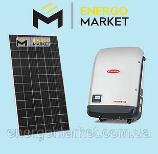 Сетевая солнечная станция 10 кВт (3 фазы)