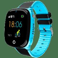Смарт-часы детские JETIX DF50 Light Edition с GPS трекером и Защитой от воды IP67 (Blue)
