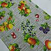 Готовое вафельное полотенце с персиками, яблоками, грушами, ежевикой 45х70 см