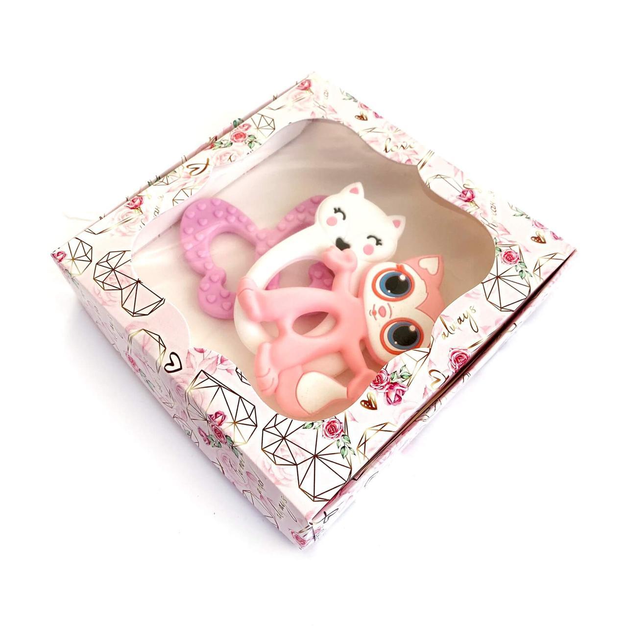 Коробка (троянда кварц) КРИСТАЛ картонна подарункова 150*150*30 мм для подарунків з віконцем