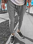 😜Спортивные штаны - Мужские штаны-спортивки светло-серого цвета, фото 2