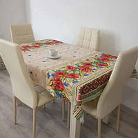 Скатерть на кухонный стол 120*150 см, лен