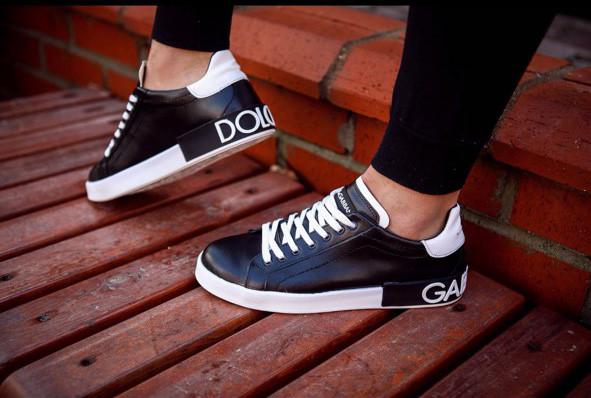 Кроссовки мужские Dolce & Gabbana D3882 черные