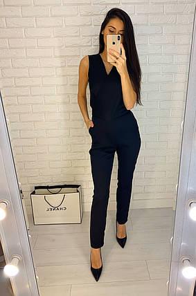 Комбинезон с брюками на запах креп костюмка, фото 2
