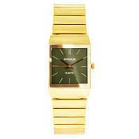 Часы наручные мужские на браслете GOLDLIS 1059 золотой, квадрат