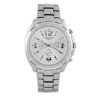 Часы наручные мужские на браслете GOLDLIS 1099G-white, кварц