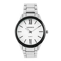 Часы наручные мужские на браслете GOLDLIS 1297G-white, кварц