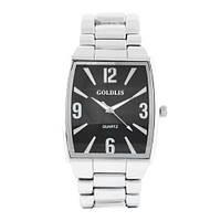 Часы наручные мужские на браслете GOLDLIS 1122G silver-black, кварц