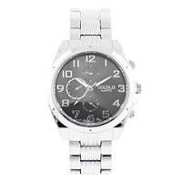 Часы наручные мужские на браслете GOLDLIS 1121G silver-black, кварц