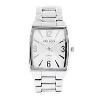 Часы наручные мужские на браслете GOLDLIS 1122G silver-white, кварц