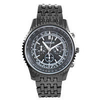 Часы наручные мужские на браслете GOLDLIS 1219G black, кварц