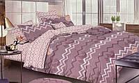 Двуспальное постельное бельё из сатина.