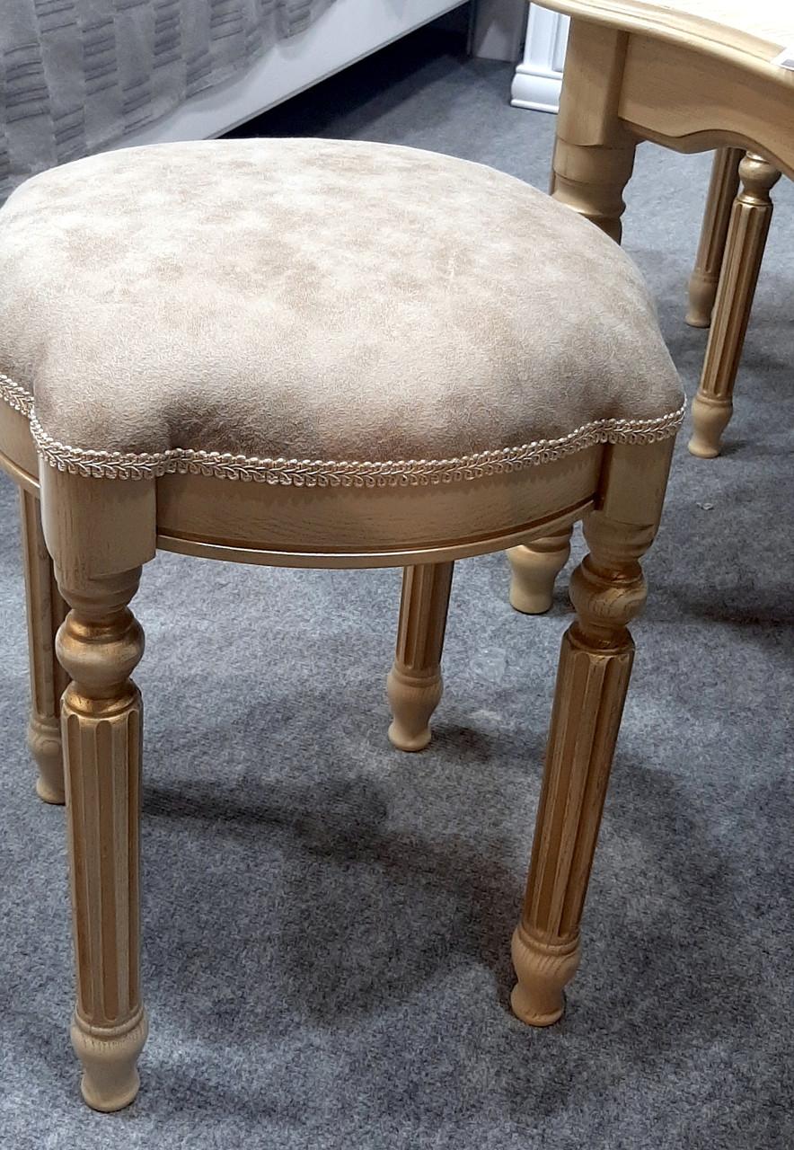 Пуф Сицилия  Микс мебель, цвет слоновая кость с патиной