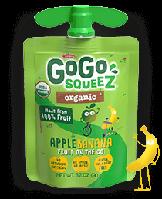 GoGo SqueeZ AppleBanana, Органическое яблочное пюре с бананом, 1 пакетика 3,2 унц. (90 г)