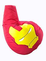 Кресло мешок груша Железный Человек 85*105 см Красный
