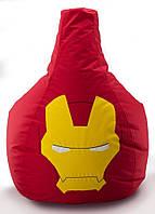 Кресло мешок груша Железный Человек 90*130 см Красный