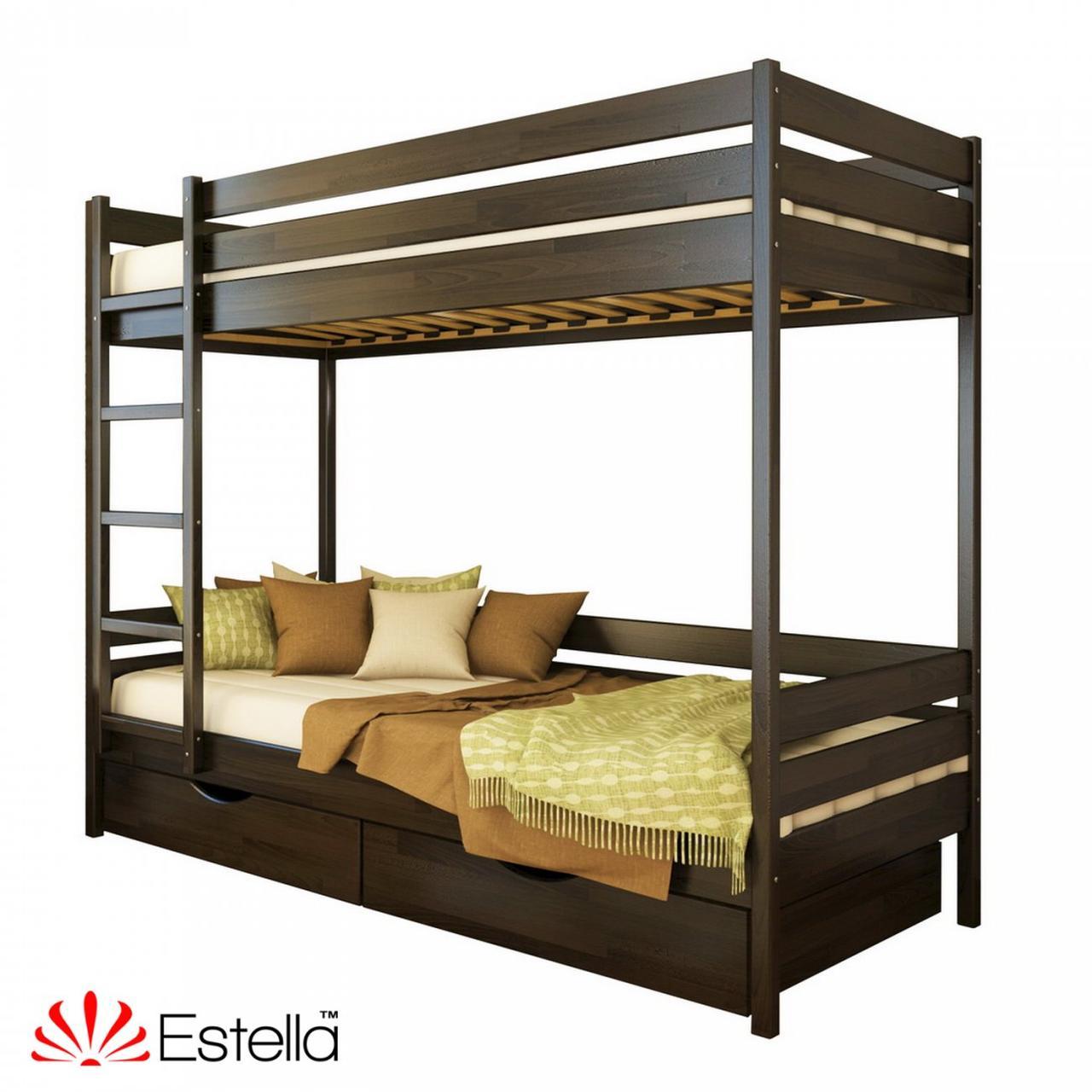 """Двоярусне ліжко """"Дует"""" з бука (щит, масив)"""