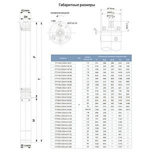 Насос центробежный скважинный 0.18кВт H 30(23)м Q 45(30)л/мин Ø80мм 20м кабеля AQUATICA (DONGYIN) (777400), фото 2
