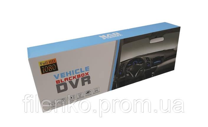 Автомобільний відеореєстратор дзеркало Blackbox DVR 206 Super Slim FULL HD реєстратор. Чорний, фото 2