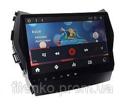 "Автомагнитола штатная Sound Box для Hyundai IX45 (10"") магнитола Android 10.1, фото 3"