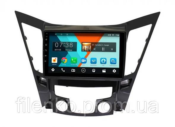 "Автомагнитола штатная Sound Box для Hyundai Sonata 2011-2014 магнитола Экран 10"" Android 10.1, фото 2"