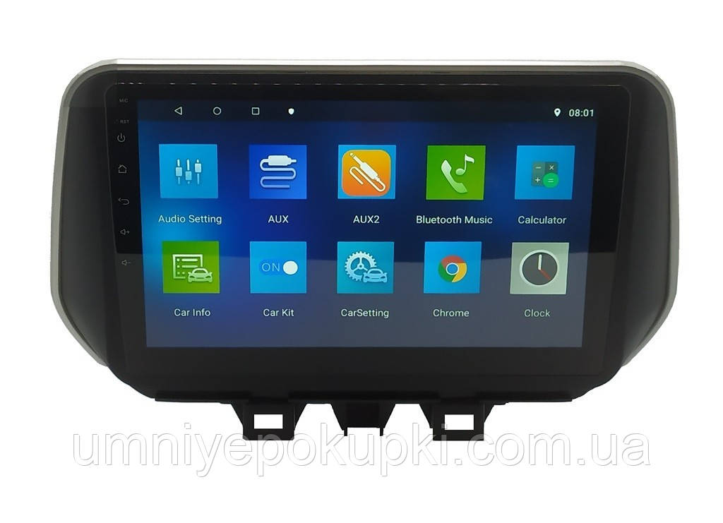 "Штатна автомагнітола Sound Box для Hyundai Tucson / IX35 2018 магнітола Екран 10"" Android 10.1"