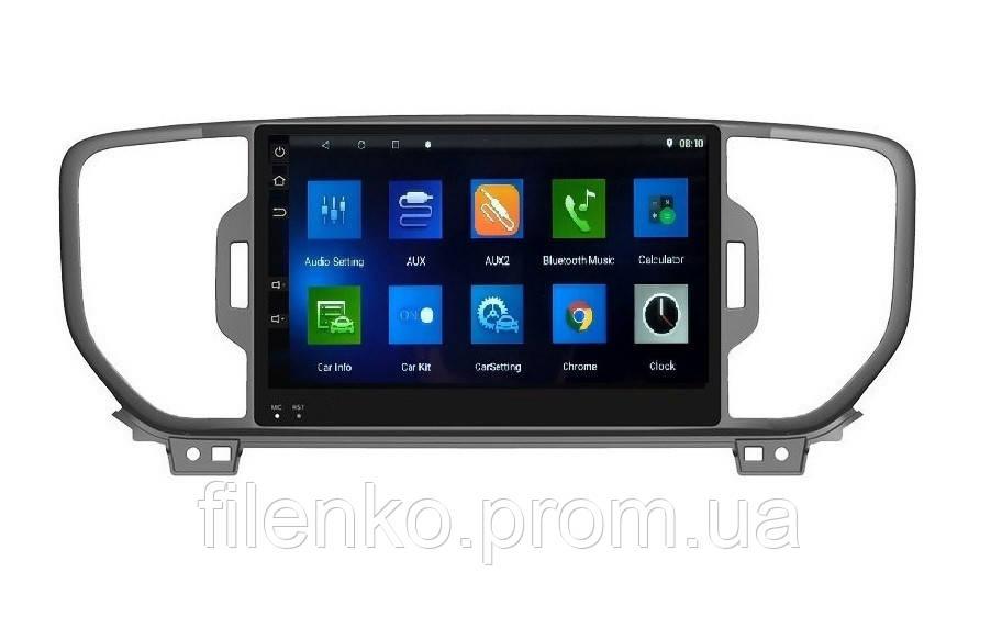 """Штатна автомагнітола Sound Box для Kia Sportage 2019 магнітола Екран 9"""" Android 10.1"""
