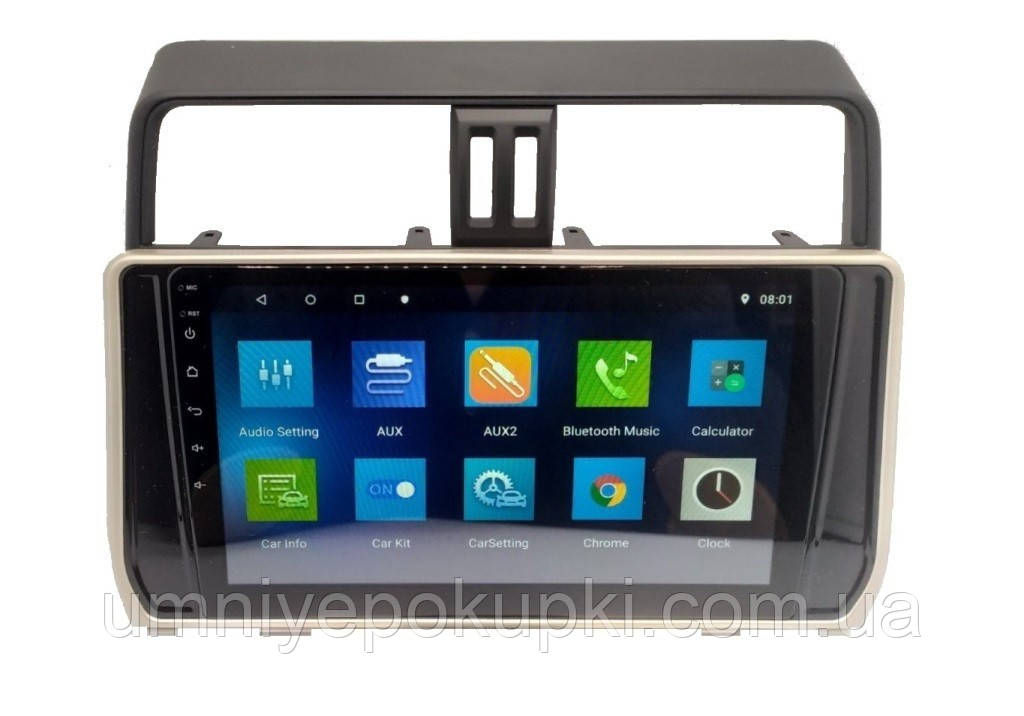"Штатна автомагнітола Sound Box для Toyota Prado 150 2018 магнітола Екран 10"" CAN Android 10.1"