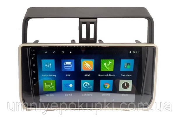 "Штатна автомагнітола Sound Box для Toyota Prado 150 2018 магнітола Екран 10"" CAN Android 10.1, фото 2"