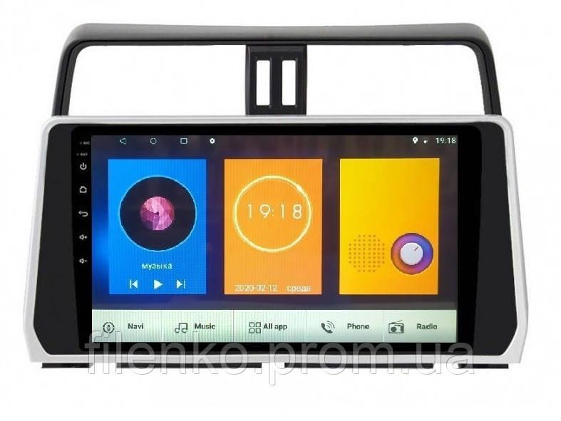 "Штатна автомагнітола Sound Box для Toyota Prado 2018 магнітола Екран 10"" Android 10.1"