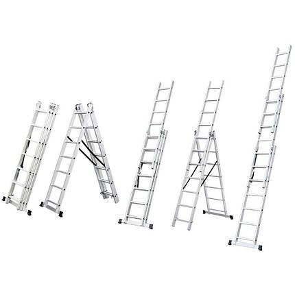 Лестница раскладывающаяся универсальная 9 ступенек FLORA (5032334), фото 2