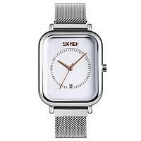 Skmei 9207 серебристые с белым мужские классические наручные часы, фото 1