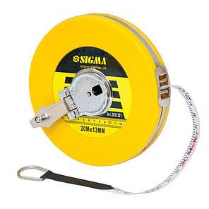 Рулетка стекловолокно 20м*13мм Sigma (3831201), фото 2