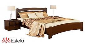 """Двоспальне ліжко """"Венеція люкс"""" з бука (щит, масив)"""
