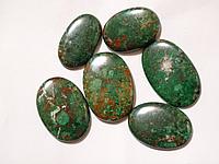 Кабошон из натурального природного камня Хризоколла зеленая (цена за грамм)