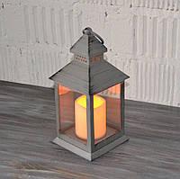 Декоративный лед светильник с лед свечей (24*11*11 см.), фото 1