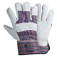 Перчатки комбинированные замшевые (цельная ладонь) SIGMA (9448361)