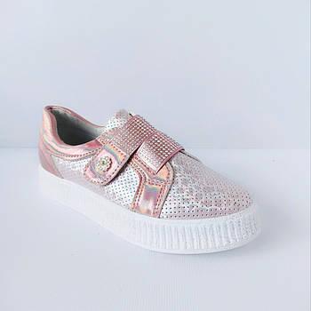 Туфли - криперы на липучке девочкам, р. 32, 33, 34, 35 ,36, 37. Школьные кеды. Весенние криперы.