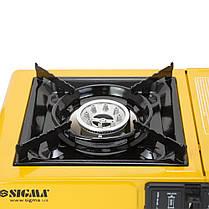 Плита газовая одноконфорочная с пьезоподжигом и адаптером (кейс) SIGMA (2903431), фото 2