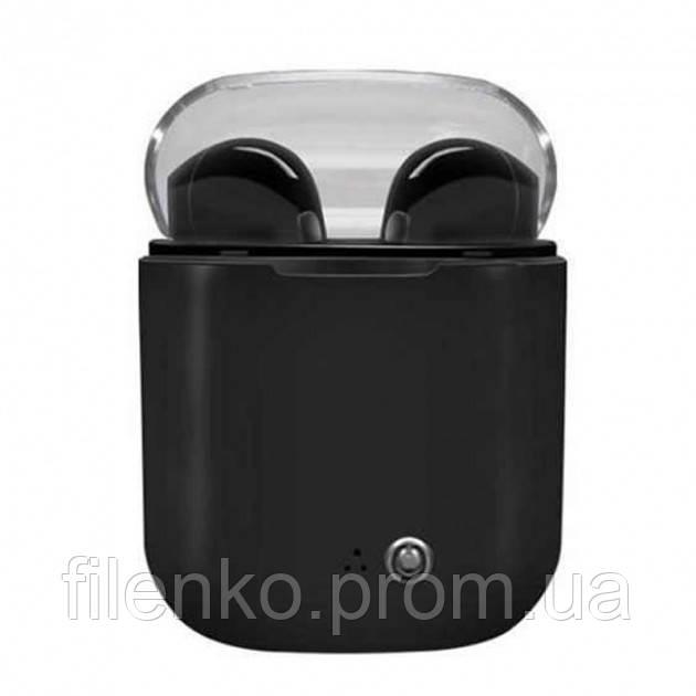 Наушники беспроводные HBQ I7s TWS в кейсе Stereo Black