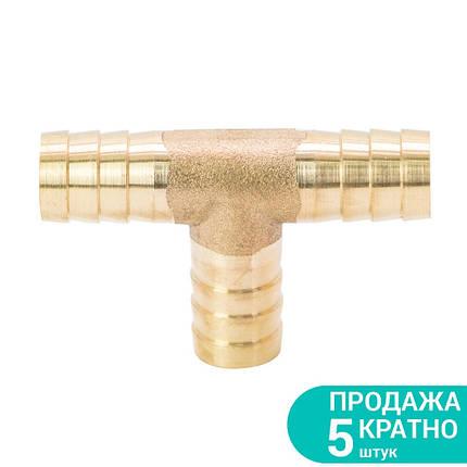 Соединение для шланга T 12мм (латунь) Sigma (7024251), фото 2