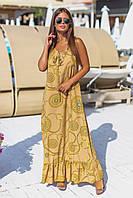 Жіночі сарафани Великих розмірів  Золото, Сірий, розміри 50-52, 54-56