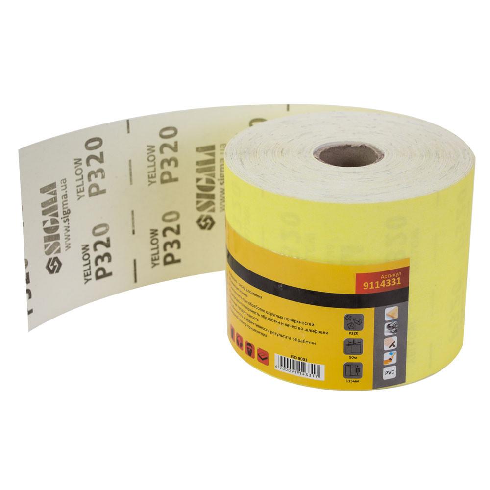 Шлифовальная бумага рулон 115мм×50м P320 SIGMA (9114331)