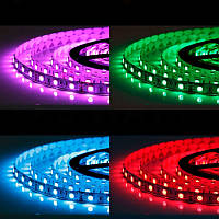Светодиодная лента LED 5050 RGB комплект 4,5 метров, разноцветная