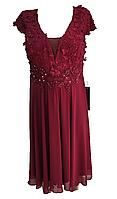 Женское платье на торжество цвета бордо, Турция Luxso