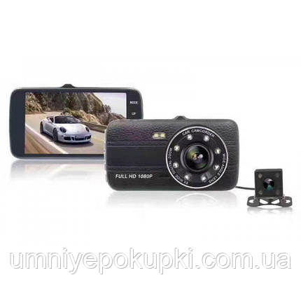 Автомобільний відеореєстратор на дві камери DVR S16 FULL HD реєстратор NEW, фото 2