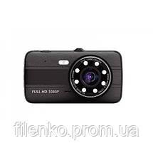 Автомобільний відеореєстратор на дві камери DVR S16 FULL HD реєстратор NEW, фото 3