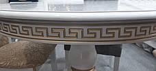 Стол обеденный Престиж Микс мебель, цвет  белый + патина, фото 3